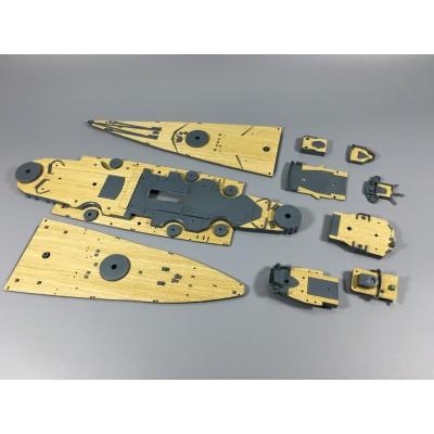 Деревяная палуба с анкерной цепью CY350002 для 80601 Бисмарк 1/350