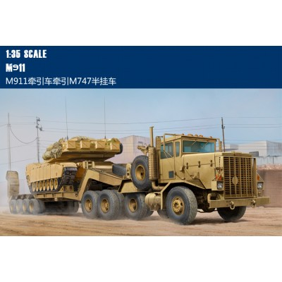 Hobby Boss 85519 1:35 Танковый тягач M911 C-HET w/m747 Heavy Equipment Semi-Trailer