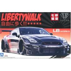 Сборная модель 1:24 AOSHIMA 05592 Nissan GT-R R35 LB Works type 2 Ver.2