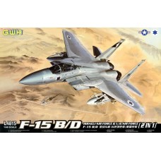 Сборная модель Great Wall Hobby L4815 (1:48) истребитель F-15 B/D Israeli air force and u.s air force 2 in 1