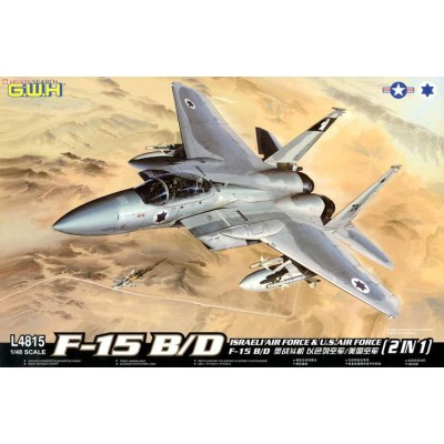 Сборная модель Great Wall Hobby L4815 (1:48) истребитель F-15 B/D Israeli air force and u.s air force 2 in 1