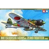 Сборная модель 1:48 TAMIYA 61027 ЯПОНСКИЙ ИСТРЕБИТЕЛЬ MITSUBISHI A6M5C TYPE 52 ZERO