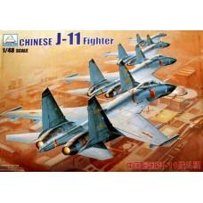 Сборная модель 80398 MiniHobby 1:48 китайский истребитель Chinese J-11 fighter