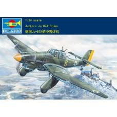 Сборная модель 1:24 Trumpeter 02420 немецкий бомбардировщик Junkers ju-87a Stuka