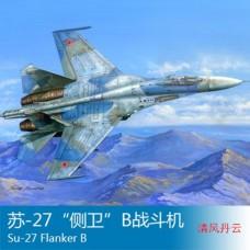 Сборная модель самолета Су-27 1:48 Hobby Boss 81711