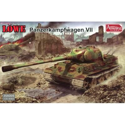 Сборная модель Немецкий Тяжелый Танк Panzerkampfwagen VII Lowe 1/35 Amusing Hobby 35A005