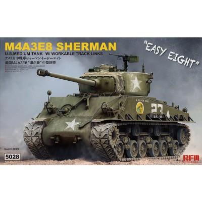 Сборная модель 1:35 RFM RM-5028 Американский средний танк M4A3E8 Sherman с рабочими траками