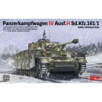 Сборная модель RM-5046 Rye Field Model 1/35 Немецкий средний танк Panzerkampfwagen IV Ausf.H