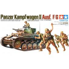 Сборная модель 1:35 TAMIYA 35009 немецкий танк Panzerkampfwagen II Ausf. F/G