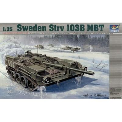 Сборная модель TRUMPETER (1:35) Шведский ОБТ Strv-103B