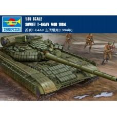 Сборная модель Trumpeter Soviet T-64A MOD 1984 (01580) 1:35