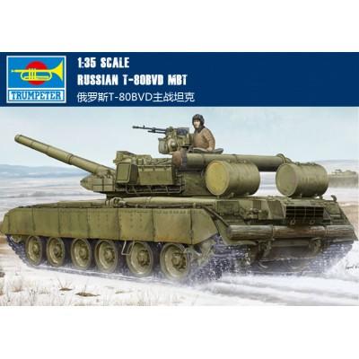 Сборная модель Trumpeter 1:35 05581 Russian T-80BVD MBT