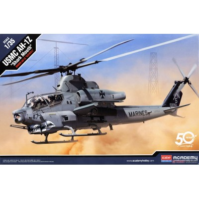 Сборная модель Academy 12127 1:35 Scale US Marine Corps AH-1Z Shark Mouth