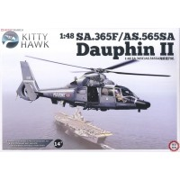 Сборная модель 1/48 Kitty Hawk 80108 вертолет Eurocopter SA.365F/AS.565SA Dauphin II